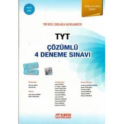 Esen Yayınları TYT Çözümlü Deneme Sınavı Temel ve Orta 4 Adet