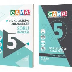 Gama 5. Sınıf Din Kültürü Soru Bankası + Tekrar Testi 2'lü Set