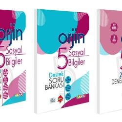 Gama 5. Sınıf Orjin Sosyal Bilgiler Konu Özetli + Soru Bankası + Deneme Seti 3 Kitap 2021