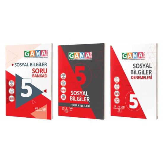 Gama 5. Sınıf Sosyal Biligiler Soru Deneme Tekrar 3'lü Set