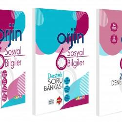 Gama 6. Sınıf Orjin Sosyal Bilgiler Konu Özetli + Soru Bankası + Deneme Seti 3 Kitap 2021