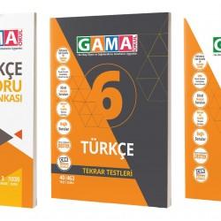 Gama 6. Sınıf Türkçe Soru Deneme Tekrar 3'lü Set