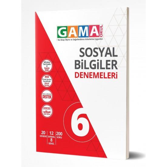 Gama Yayınları 6. Sınıf Sosyal Bilgiler Denemeleri