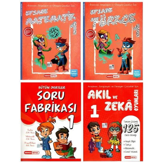 Kırmızı Beyaz 1. Sınıf Set 4 Kitap (Efsane Takım+Akıl Ve Zeka)