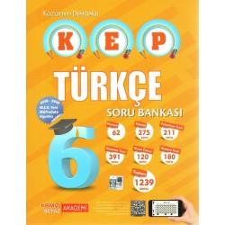 Kırmızı Beyaz 6. Sınıf KEP Kazanım Destekli Türkçe Soru Bankası