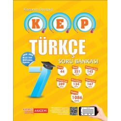 Kırmızı Beyaz 7. Sınıf KEP Kazanım Destekli Türkçe Soru Bankası