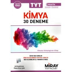 Miray Yayınları TYT Kimya Denemeleri Pratik Konu Özetli 30 Adet