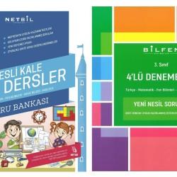 Netbil 3. Sınıf Tüm Dersler + Bilfen 4 lü Deneme Seti 2 Kitap