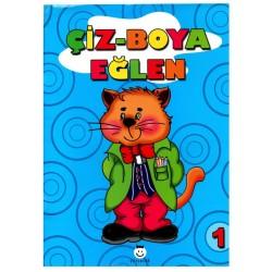 Şiir Çocuk Okul Öncesi Çiz-Boya Eğlen - 1 Boyama Kitabı
