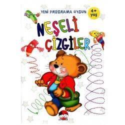 Şiir Çocuk Okul Öncesi Neşeli Çizgiler Etkinlik Kitabı +4 Yaş