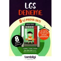 Tambilgi Yayınları 8. Sınıf LGS Deneme 8 li Prova Seti