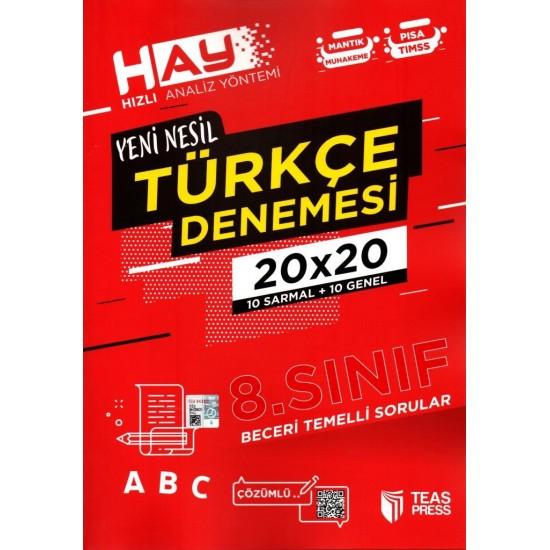 Teas Press 8. Sınıf Yeni Nesil Türkçe Denemesi 20 Adet