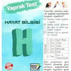 Türev Yayınları 2. Sınıf Hayat Bilgisi Yaprak Test