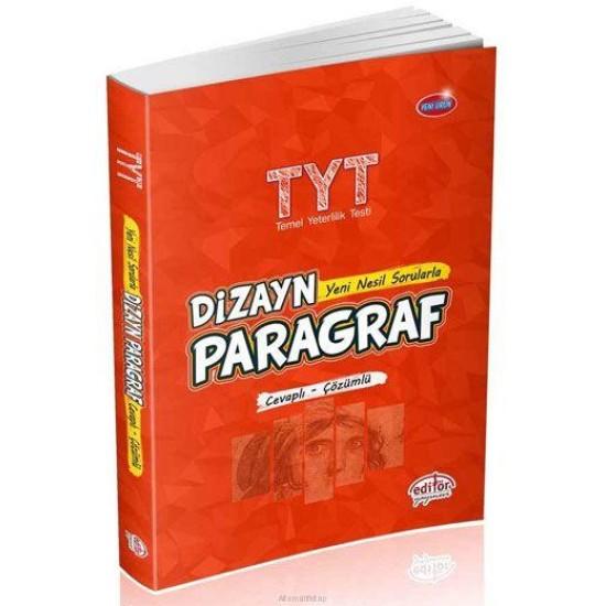 Editör Yayınları TYT Dizayn Paragraf Yeni Nesil Sorularla